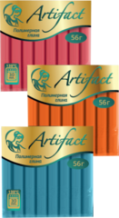 Полимерная глина запекаемая Артефакт, 56 г. Классические цвета