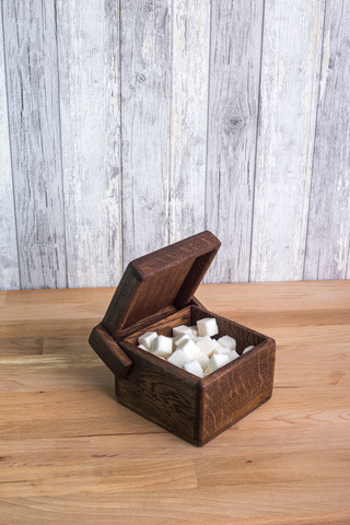 Cube Large Oak Storage Box