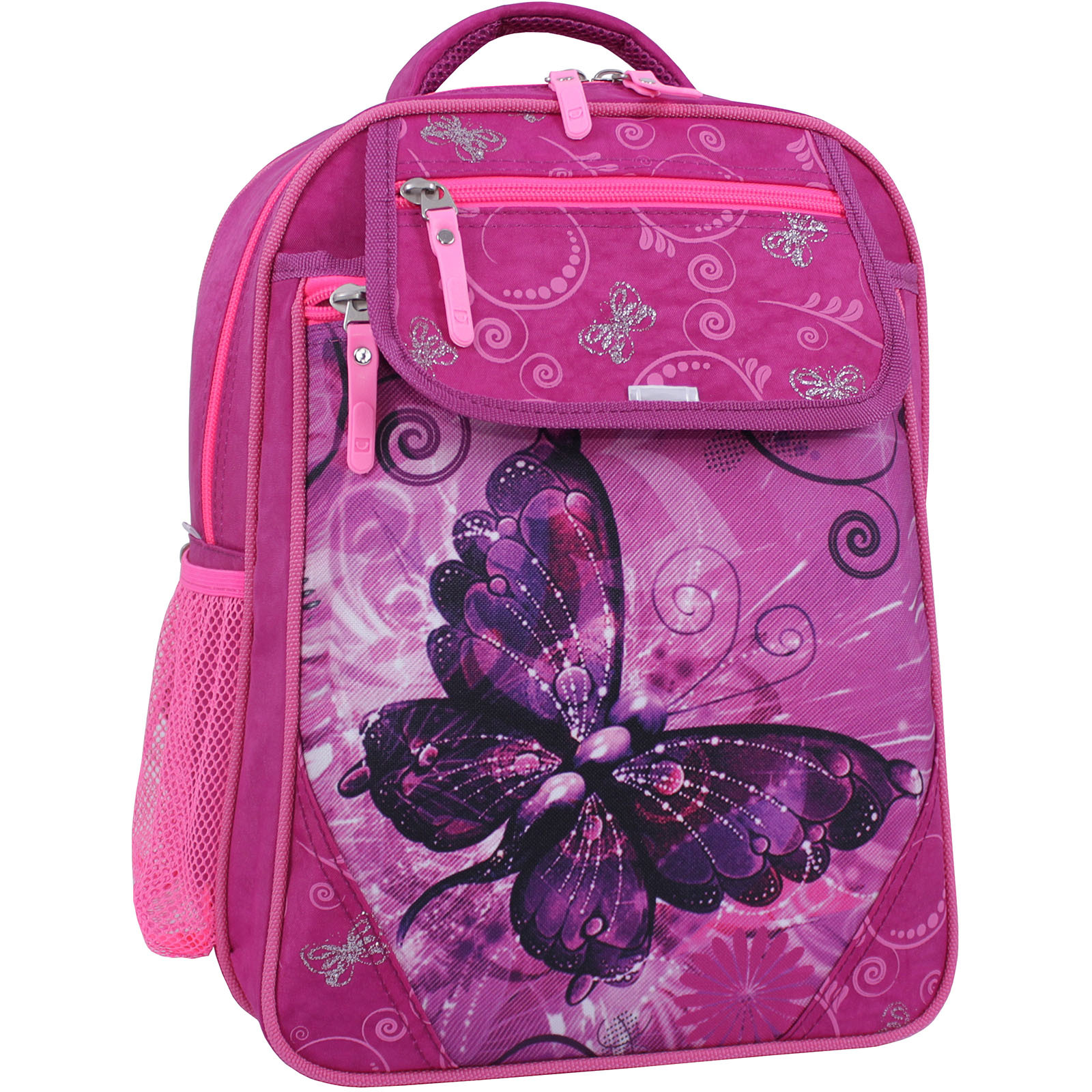 Школьные рюкзаки Рюкзак школьный Bagland Отличник 20 л. Малиновый 615 (0058070) IMG_1236_суб.615_.JPG