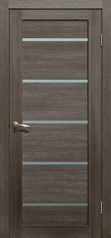 Дверь La Stella 206, стекло матовое, цвет ясень грей, остекленная