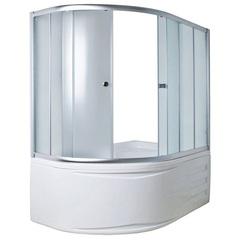 Шторка для ванны 1Marka Juliana 4604613103286 170х90х140 MS каркас хром, стекло Мислайт