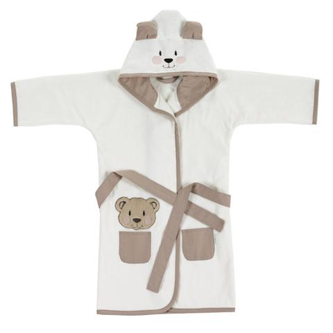 Халат фигурн. вел./махра с капюш., FBR0006 Медвежонок, 100% хлопок (размер 4)