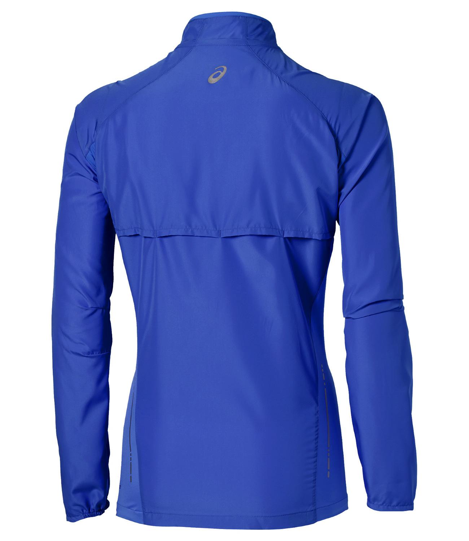 Женская беговая ветровка Asics Woven Jacket (110426 8091) синяя фото