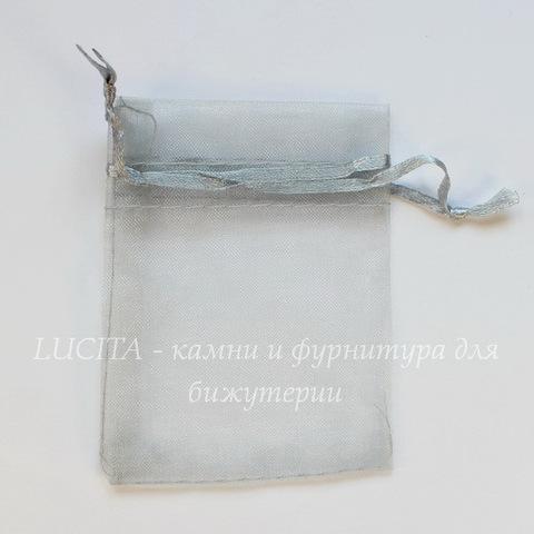 Подарочный мешочек из органзы, цвет - серый, 9х7 см