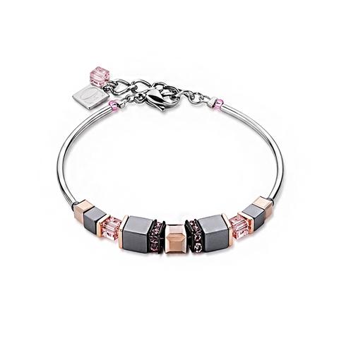 Браслет Coeur de Lion 4851/30-1900 цвет серый, розовый