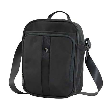 Сумка наплечная Victorinox Travel Companion вертикальная, чёрная, 21x10x27 см, 6 л