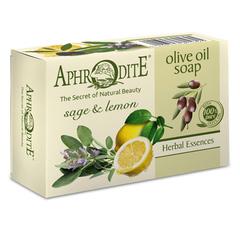 Оливковое скраб-мыло с маслом лимона и шалфея, Aphrodite