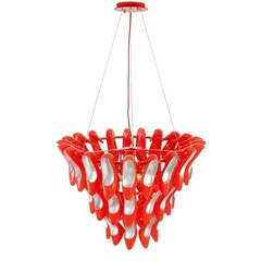 Люстра CRYSTAL LUX TIFFANY SP13 ROSSO