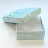 Подарочная коробочка с бантиком (цвет - голубой в белый горошек), 92х71х27 мм