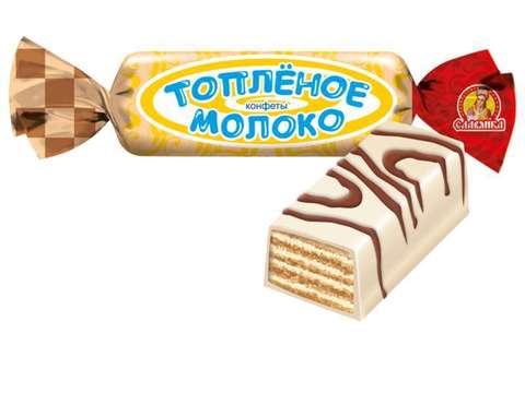 """Конфеты """"Славянка"""" Топленое молоко 250гр"""