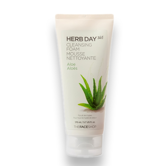 THE FACE SHOP Herb Day 365 Cleansing Foam Aloe, 170 ml