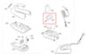 Задняя (тыльная) часть корпуса утюга Bosch (Бош) - 651264