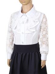 B407 блузка детская, белая
