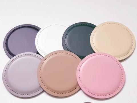 Костеры - подставки для стаканов-чашек кожа Cuoietto в ассортименте цвета.