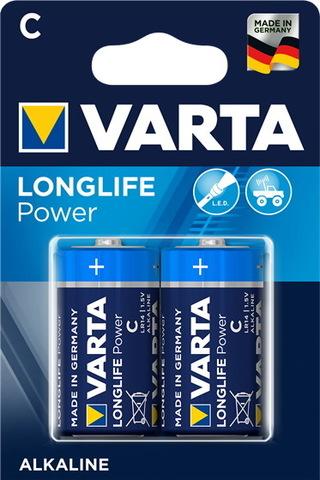 Батарейки Varta LongLife LR14, C (2/24)