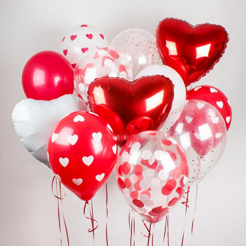 Воздушные шары красное сердце купить в Перми