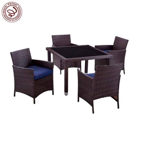 Комплект обеденный HELSINKI Weaving (стол + 4 кресла)