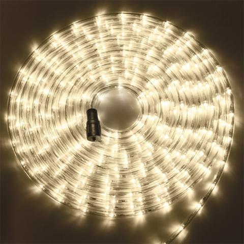 теплый белый цвет шланга готового комплекта дюралйта 10 метров Led с вилкой и коннектором