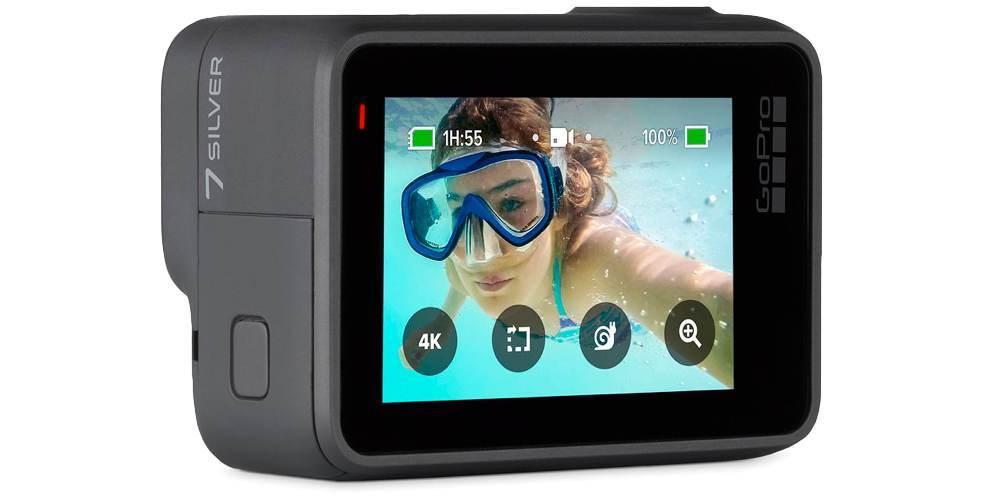 Экшн-камера GoPro HERO7 Silver Edition (CHDHC-601-LE) ЖК экран