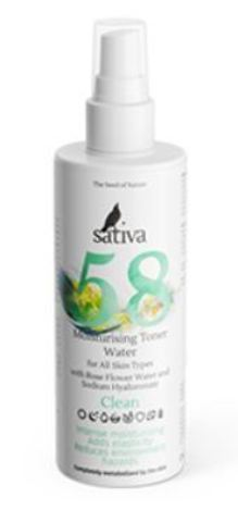 Sativa Тоник №58 увлажняющий 150 мл