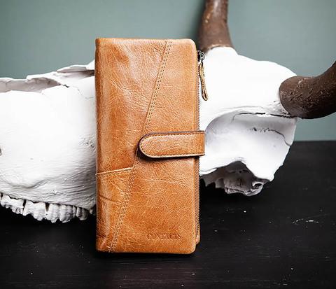 Мужской клатч из натуральной кожи со съемным отделением