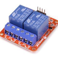 Релейный модуль с опторазвязкой 12В 10A, 2 канала