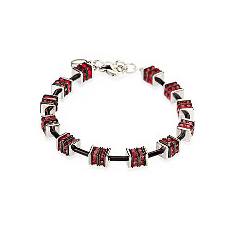 Браслет Coeur de Lion 4421/30 цвет красный, чёрный