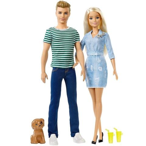Барби и Кен на Прогулке с Щенком
