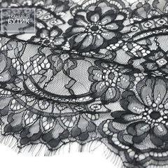Нежное нейлоновое кружево черного цвета