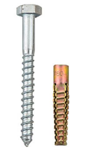 Шуруп-дюбель металл 10х100мм