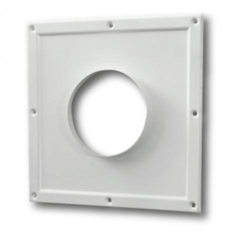 Торцевая площадка стальная 295х295/ф100 без решетки, с полимерным покрытием эмалью