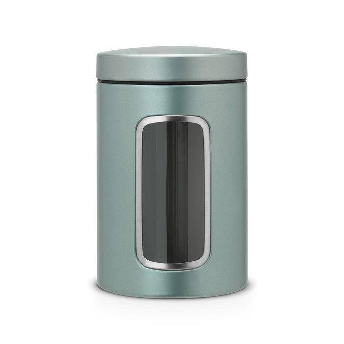 Контейнер для сыпучих продуктов с окном (1,4 л), Мятный металлик, арт. 484360 - фото 1