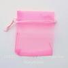 Подарочный мешочек из органзы, цвет - розовый, 9х7 см