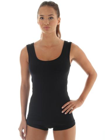 Термобелье женское Brubeck Comfort Wool термомайка черная