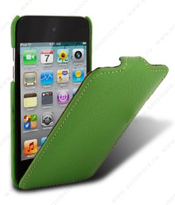 Чехол Melkco для Apple iPod Touch 4th Leather Case Jacka Type (Green LC)