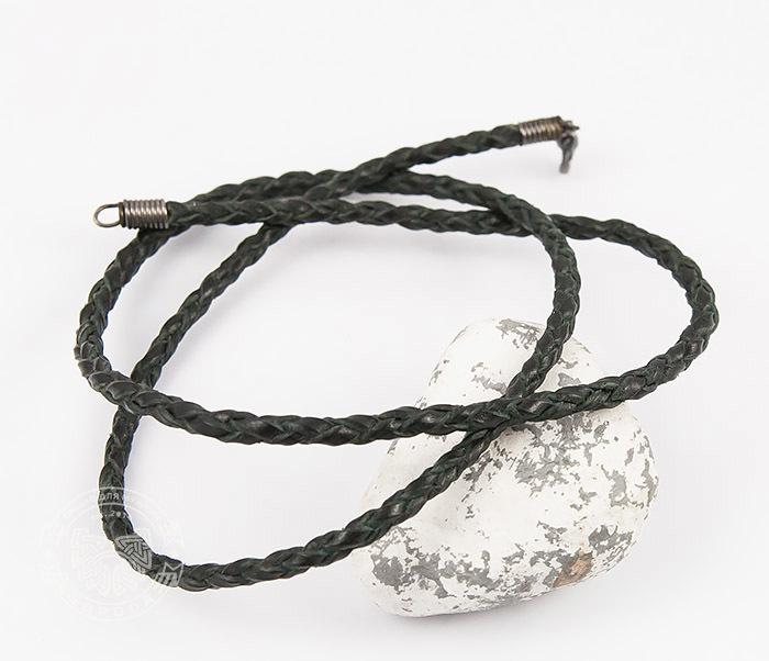 цена на Boroda Design, Плетеный шнур ручной работы из натуральной кожи черного цвета