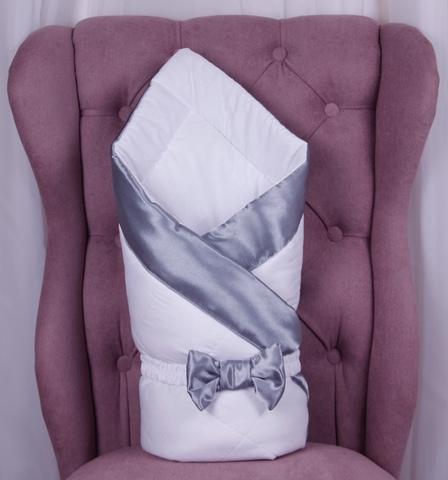 Конверт одеяло для новорожденных Beauty серый