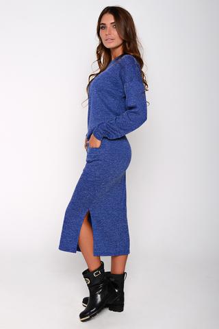 """Ультра модный костюм из мягкого трикотажа. Юбка длины """"миди"""", талия на резинке. По бокам карманы. (Длина юбки: 80см)"""