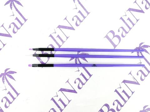 TNL Набор кистей фиолетовая (3 шт.)