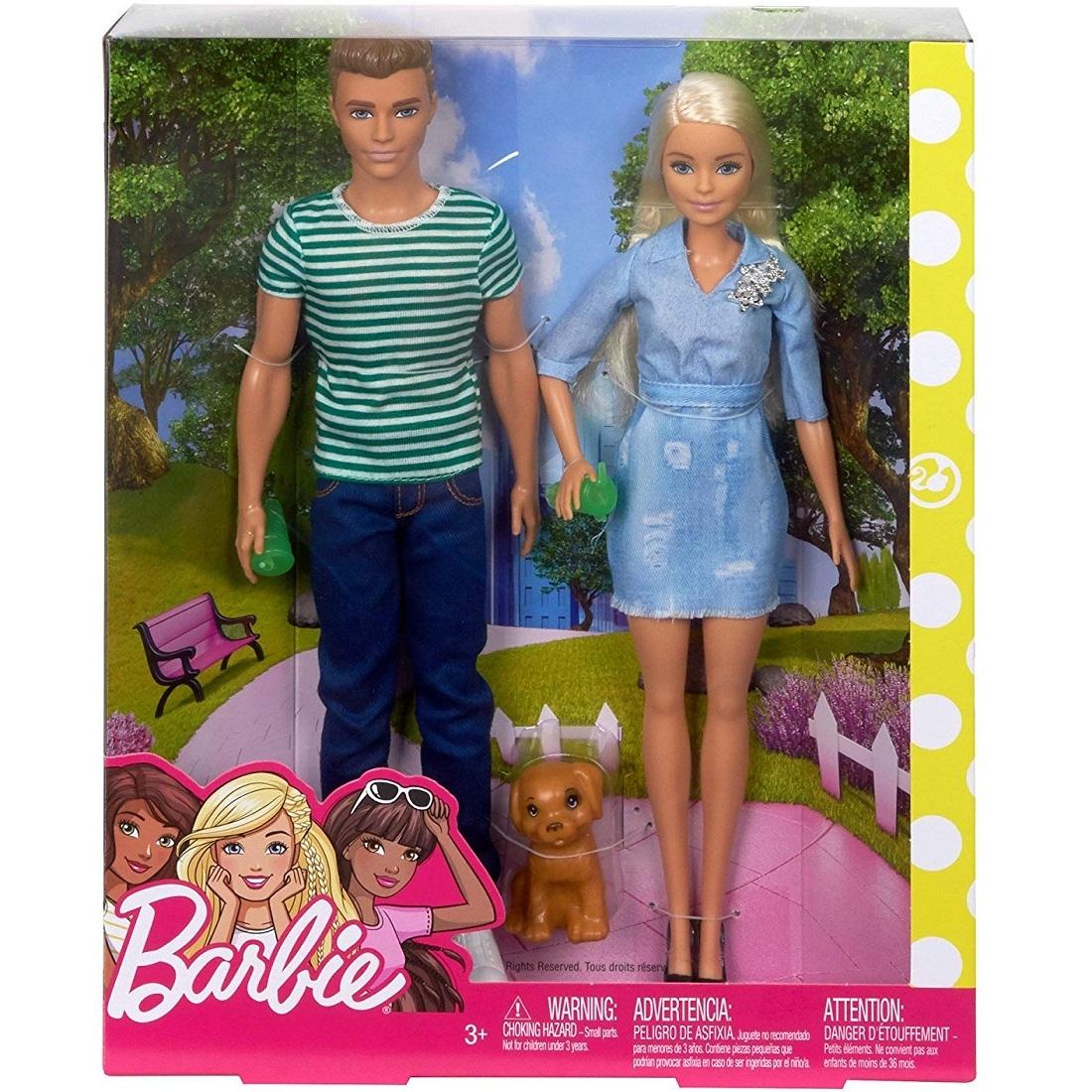 Барби и Кен на Прогулке с Щенком– купить в интернет ...