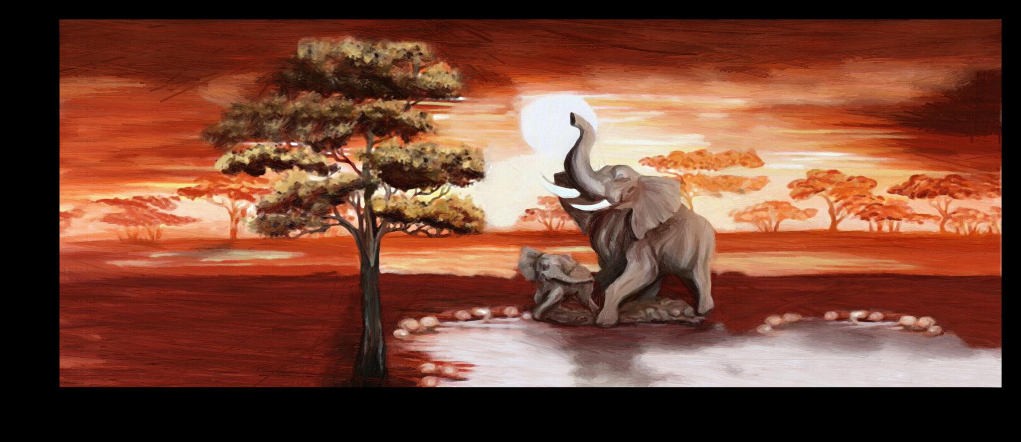 """Постеры Постер """"Слоны в Африке"""" п24.png"""
