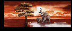 """Постер """"Слоны в Африке"""""""