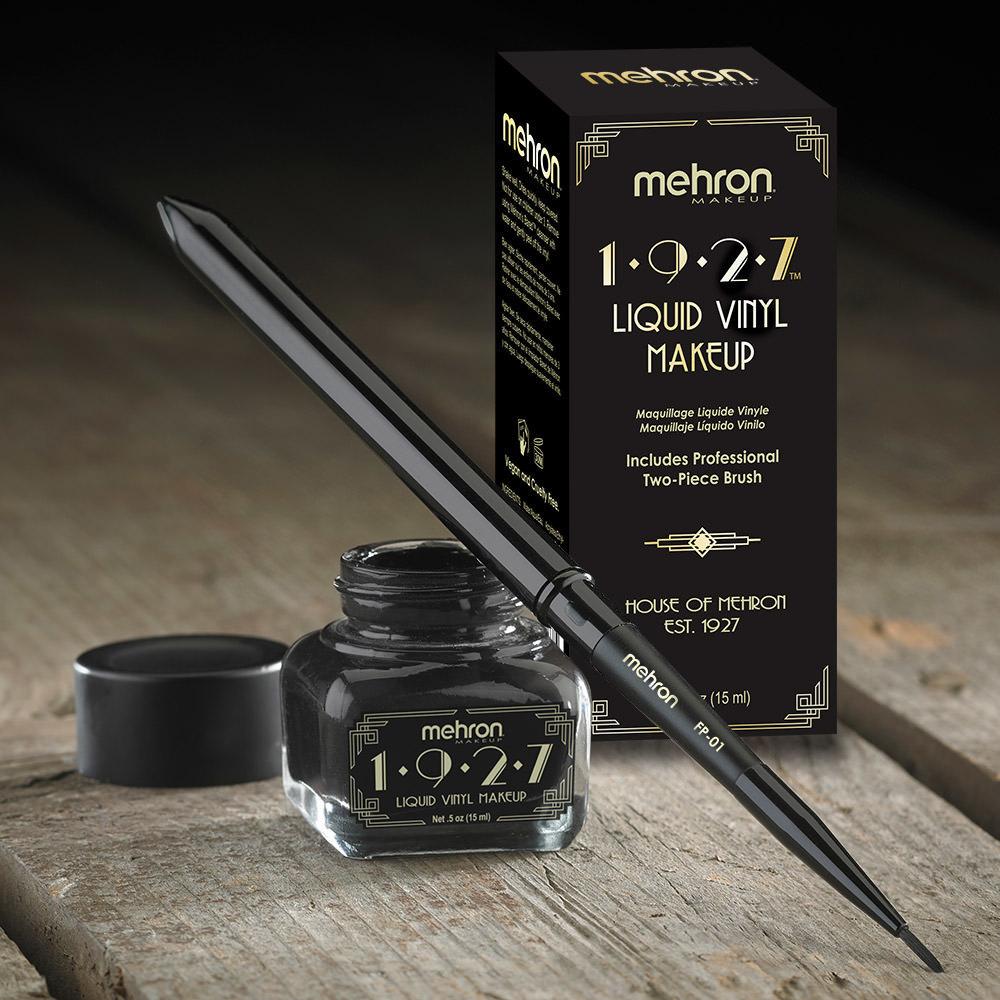 MEHRON MEHRON Водостойкая виниловая подводка с кистью, 1927 Liquid Vinyl™ Makeup