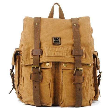 Винтажный рюкзак из парусины S.C.Cotton 1097
