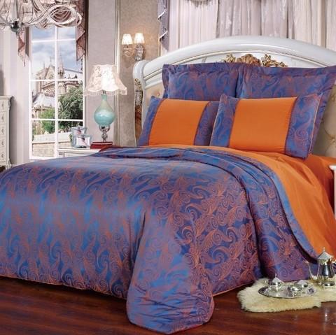 2-Спальное Постельное белье Жаккардовый Шелк