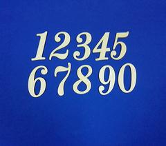 Цифры, 3 мм, дерево, высота 6 см, 1 шт.