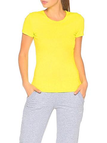 554-1 футболка женская, желтая