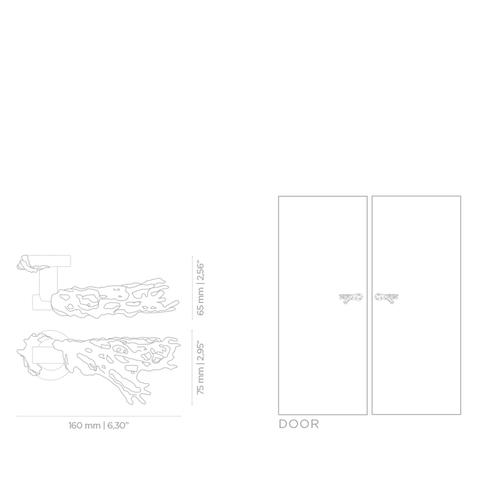 Дверная ручка PullCast TOILE OC2024