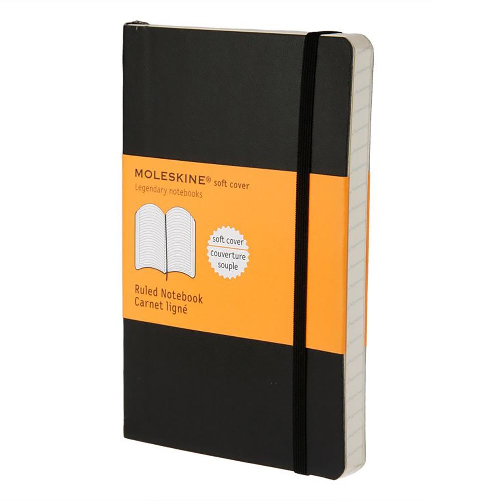 Блокнот Moleskine Classic Soft Pocket, цвет черный, в линейку