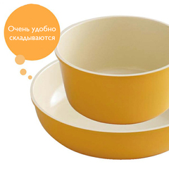 Набор японских кастрюль с керамическим покрытием (13 предметов) KITCHEN CHEF H-CC-SE13